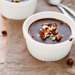 Stock Photo: Homemade chocolate pudding