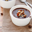 homemade chocolate pudding — Stock Photo