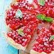 Stock Photo: Tart with red currants