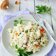 Traditional risotto with mushrooms — Stock Photo