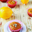 Mini cupcakes with pumpkin — Stock Photo #40834427