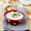 Light mushroom soup with cream — Stock Photo