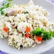 Arborio rice with cheese and vegetables — Stock Photo
