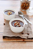 Creamy chocolate dessert — Stock Photo