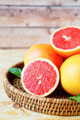Ripe grapefruit sectional — Stock Photo