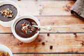 Soft chocolate pudding — Stock Photo