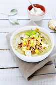Cream soup with zucchini — Stock Photo