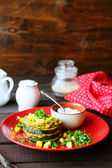 Roasted zucchini with eggs — Stock Photo