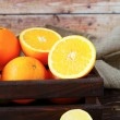 Ripe oranges in the drawer — Stock Photo #42616847