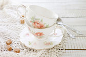 Two vintage porcelain cups — Stock Photo