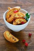 Crunchy cranberry biscotti — Stock Photo