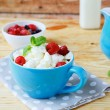 Cottage cheese and ripe berries — Stock Photo #43081633