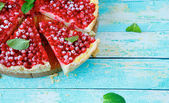 Delicious berry tart — 图库照片