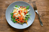 Carrot - celery salad with cranberries — ストック写真