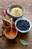 Set of fragrant spices — Stock Photo