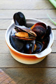 Mussels steamed in a sauce — Stock Photo