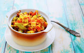 Risotto with roasted vegetables — Stock Photo