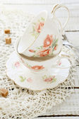 Teacups style Shabby Chic — Stock Photo