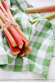 Bunch of rhubarb stalks — Stock Photo