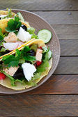 Nourishing pita with fish and salad — Foto de Stock