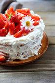 Summer round cake — Stock Photo