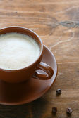 Fresh cappuccino in cup — Stock Photo