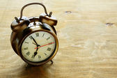 Old metal alarm clock — Foto de Stock