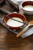 Vanilková panna cotta v misce — Stock fotografie
