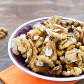Kernels walnuts closeup — Stock Photo