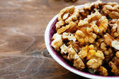 Walnuts in a bowl — Stock Photo
