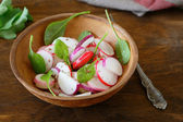 Fresh radish salad in a bowl — Stock Photo