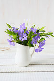 Aromatic flowers in a vase — Stock Photo