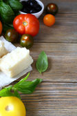 Ingredients for Italian cuisine background — Stock Photo