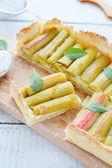 Crisp tart with rhubarb — Stock Photo