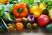 Background with fresh seasonal vegetables — Stock Photo