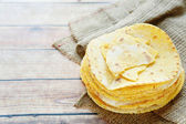 Stack of thin corn tortillas — Stock Photo