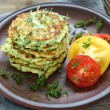 Zucchini fritters with dill — Stock Photo #51409089