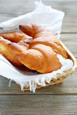 Croissants in the bread basket — Stock Photo