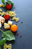 Fresh ingredients of Italian cuisine — Stock Photo