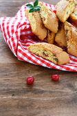 Traditional Italian biscotti on a napkin — Stock Photo