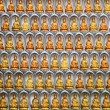 Wall of Kuan Yin statues in Kuan Yin Temple, Penang, Malaysia — Stock Photo