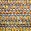 Wall of Kuan Yin statues in Kuan Yin Temple, Penang, Malaysia — Stock Photo #34824011