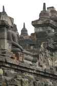 Headless buddha in Borobudur temple, the World Heritage Site in — Foto de Stock