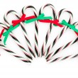 Chrismas candy canes — Stock Photo