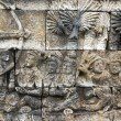 Stock Photo: Ancient wall in Borobuder Temple, World Heritage Site in Yog