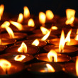 Lit candles — Stock Photo