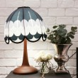 Vintage stylish lamp and white rose decoration — Stock Photo