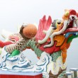 Colorful dragon sculpture in Repulse Bay Temple, Hong Kong — Stock Photo