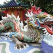 Colorful dragon sculpture in Repulse Bay Temple, Hong Kong — Stock Photo #34888579