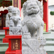 Stone lion statue in Repulse Bay Temple, Hong Kong — Stock Photo